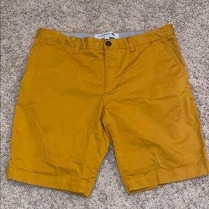 Lacoste Mustard Yellow Shorts